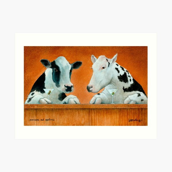 Will Bullas card / moo moos and martinis... Art Print