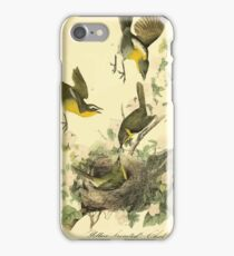 James Audubon Vector Rebuild - The Birds of America - From Drawings Made in the United States and Their Territories V 1-7 1840 - Yellow Breasted Chat iPhone Case/Skin