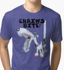 Chains Bite - Dogs Deserve Better Tri-blend T-Shirt