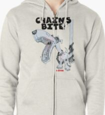 Chains Bite - Dogs Deserve Better Zipped Hoodie
