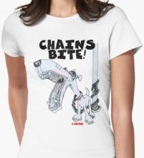 Chains Bite - Dogs Deserve Better Women's Fitted T-Shirt