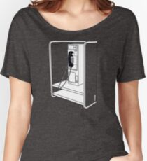 Old School Phone Booth Women's Relaxed Fit T-Shirt
