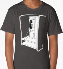 Old School Phone Booth Long T-Shirt