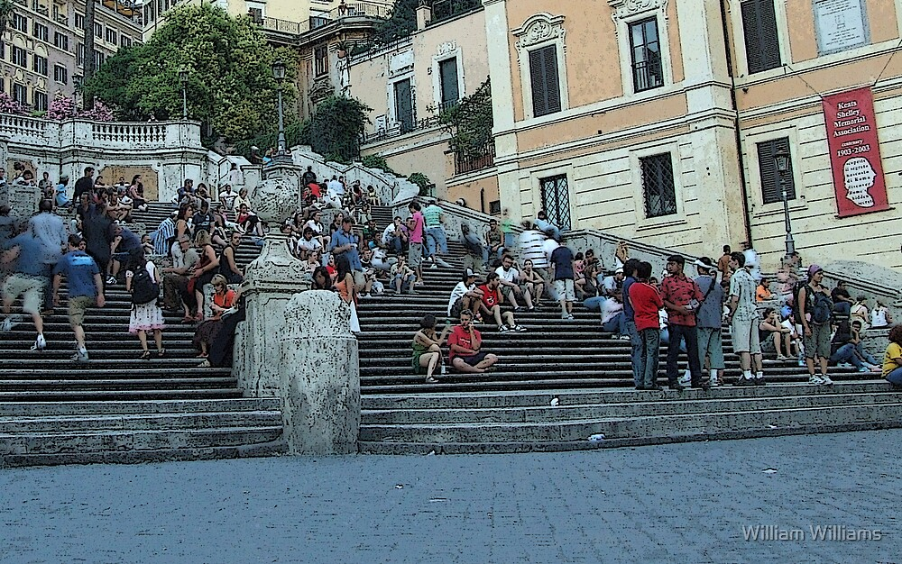 Spanish Steps, Rome by William Williams