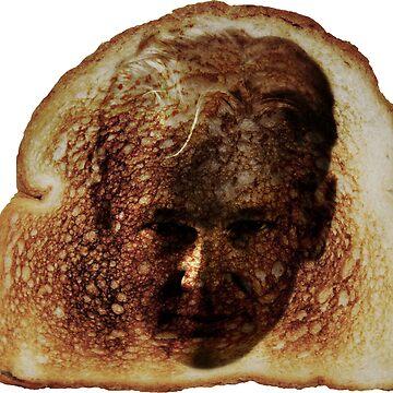 Julian Assange Toast Miracles -on blue- by DeplorableLib