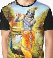 Yoga Hosen Bali Krishna Grafik T-Shirt