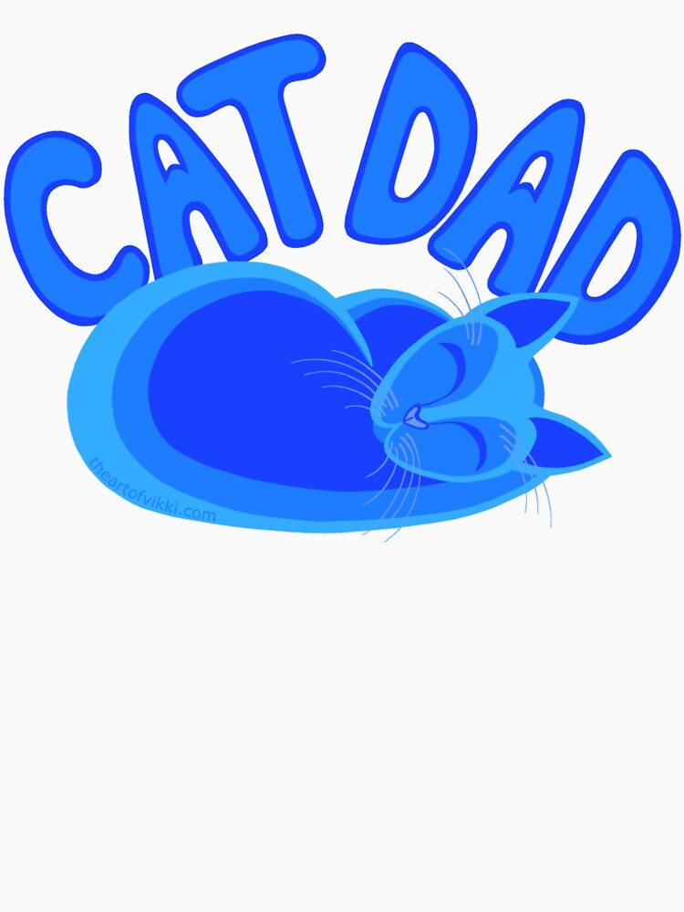 Cat Dad Blue Funny Cat Lover Design by theartofvikki