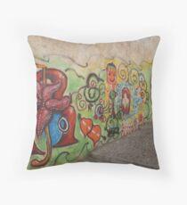 Granada Graffitti Throw Pillow