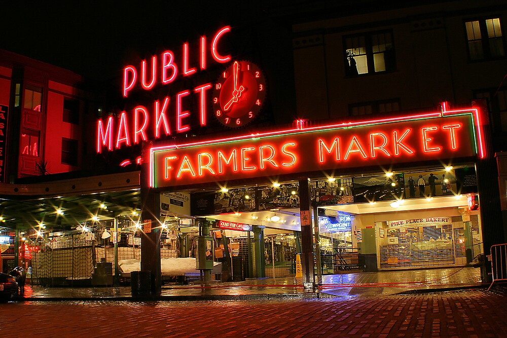 pikes place market by rutger