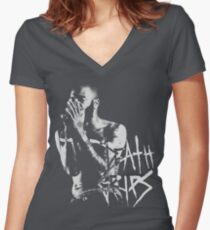 Death Grips | MC Ride Women's Fitted V-Neck T-Shirt