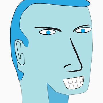 Blue Faced Man by ryanpederson