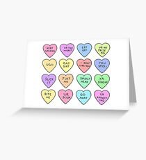 Bitter Hearts Greeting Card