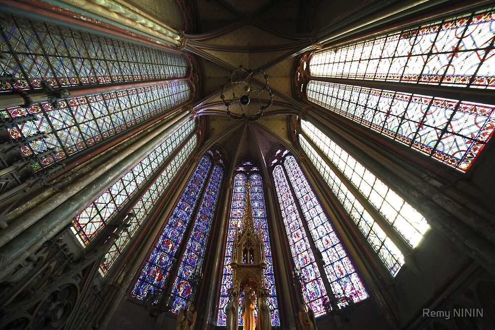 Stained Glass, Amiens Cathedral, France by Remy NININ