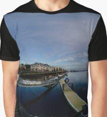 Dawn Calm at Foyle Marina, Derry, N.Ireland Graphic T-Shirt