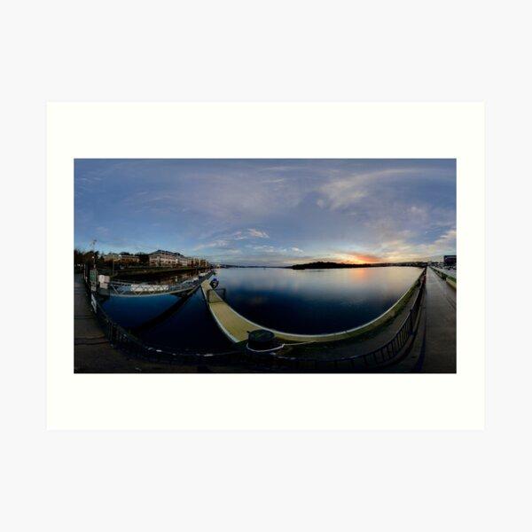 Dawn Calm at Foyle Marina, Derry, N.Ireland Art Print