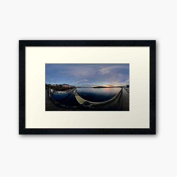 Dawn Calm at Foyle Marina, Derry, N.Ireland Framed Art Print