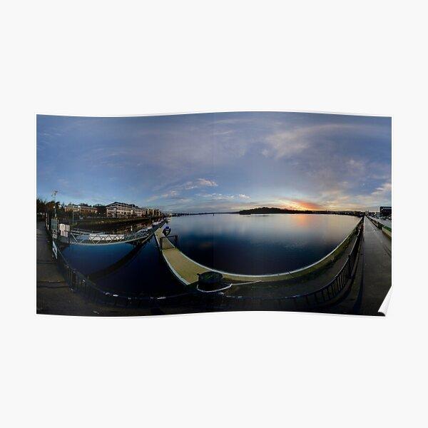 Dawn Calm at Foyle Marina, Derry, N.Ireland Poster