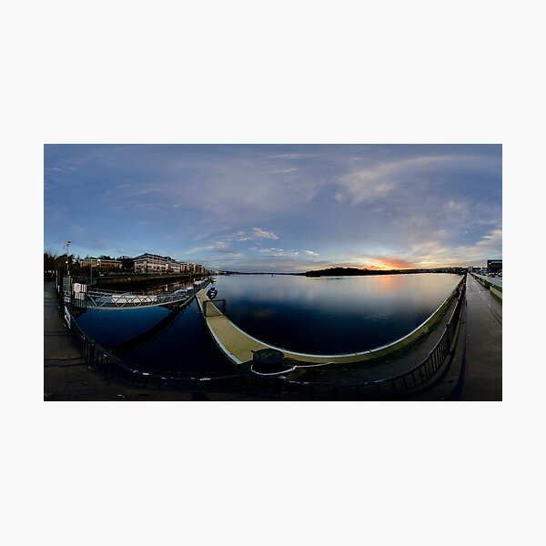 Dawn Calm at Foyle Marina, Derry, N.Ireland Photographic Print