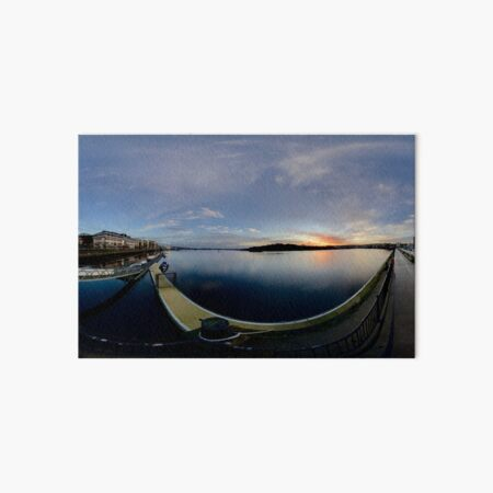 Dawn Calm at Foyle Marina, Derry, N.Ireland Art Board Print