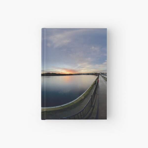 Dawn Calm at Foyle Marina, Derry, N.Ireland Hardcover Journal