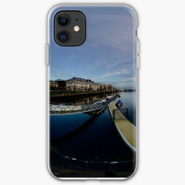 Dawn Calm at Foyle Marina, Derry, N.Ireland iPhone Soft Case