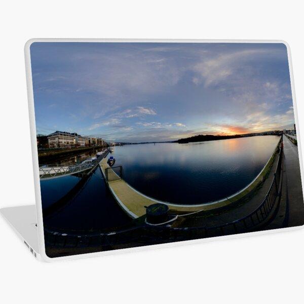 Dawn Calm at Foyle Marina, Derry, N.Ireland Laptop Skin