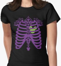 Haunted Heartbeat by Topher Adam Womens Fitted T-Shirt