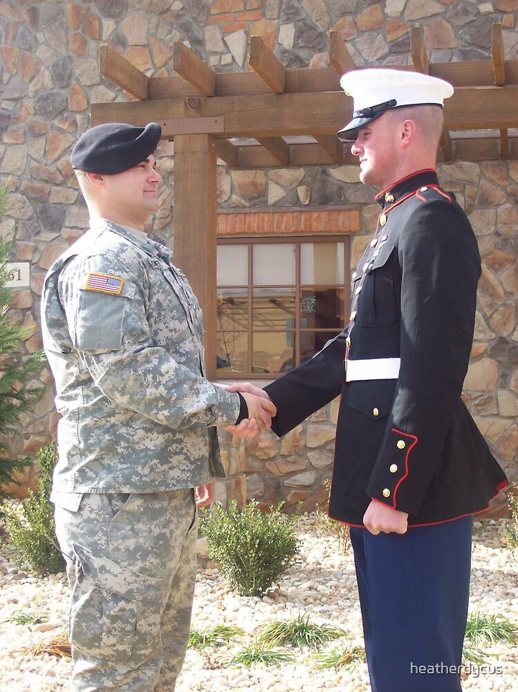 Army and Marines Unite by heatherdycus