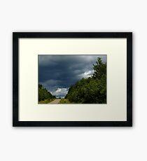 0376 - HDR Panorama - Heavy Sky Framed Print