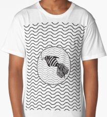 Black and white fish Long T-Shirt