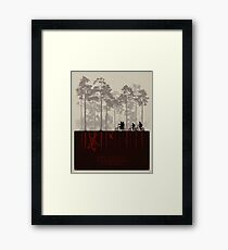 Stranger Things Top Design Framed Print