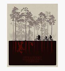 Stranger Things Top Design Photographic Print