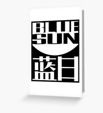 Blue Sun Corporation Logo Greeting Card