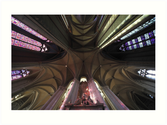 Arches, Notre Dame d'Amiens Cathedral, France by Remy NININ
