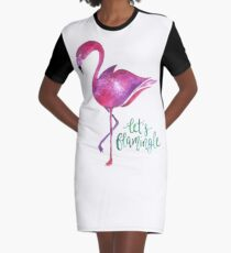 Let's Flamingle! Graphic T-Shirt Dress