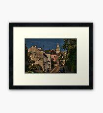Paris - Montmartre Streetscape 002 Framed Print