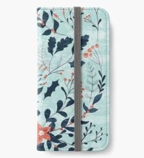 Winter flowers iPhone Wallet/Case/Skin