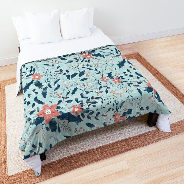Winter flowers Comforter