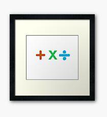 Coloured + X and Divide Framed Print