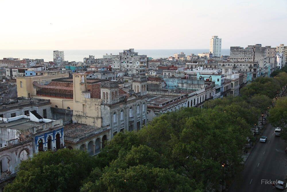Prado and Havana from above by Fikkels