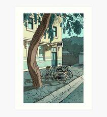 bicycles at the Hotel Art Print