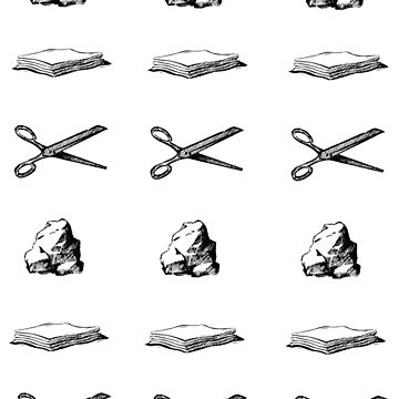 Rock Paper Scissors Stickers by zandozan