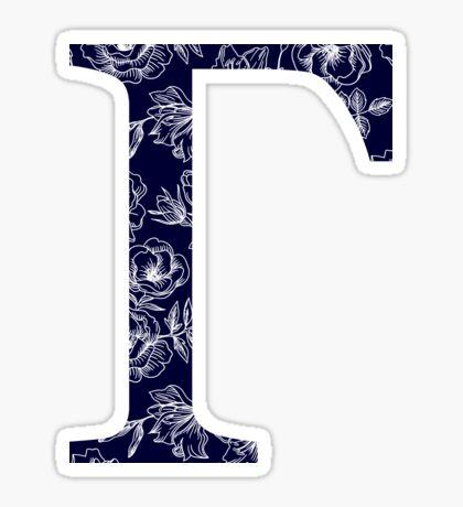 azul marino floral - gamma Pegatina