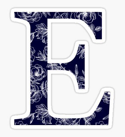 azul marino floral - épsilon Pegatina