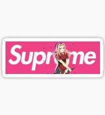 Naruto Sakura x Supreme Parody Box Logo Sticker