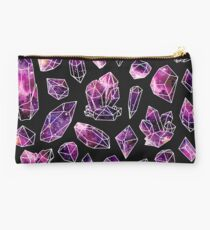 Watercolour Galaxy Crystals Studio Pouch