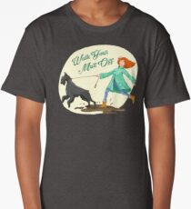 Dog Wisdom ~ Walk Your Mutt Off! ~ For Dog Walkers & Lovers Long T-Shirt