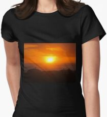 Orange Sunset at Beach T-Shirt