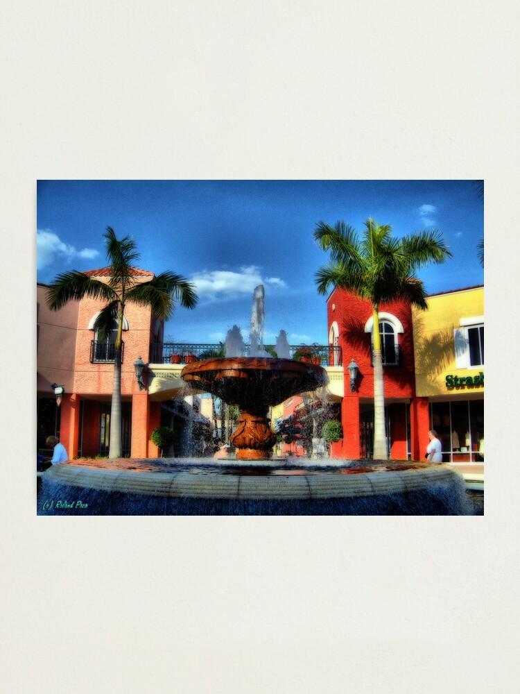 Alternate view of Miromar Fountain Photographic Print