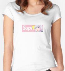 Dragon Maid Kanna x Supreme Parody Box Logo Women's Fitted Scoop T-Shirt